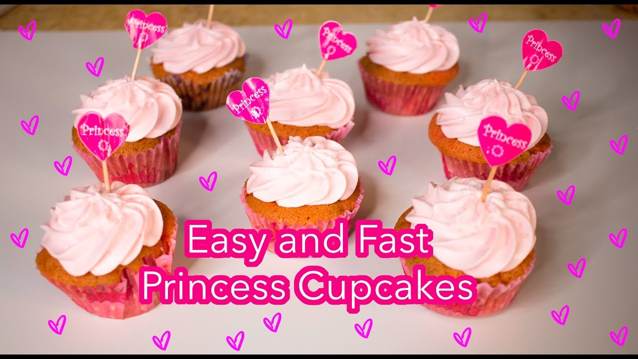 Easy And Fast PRINCESS CUPCAKES