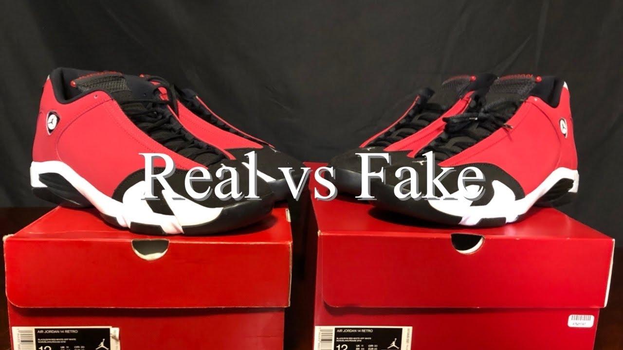 Air Jordan 14 GymRed/Toro Real Fake
