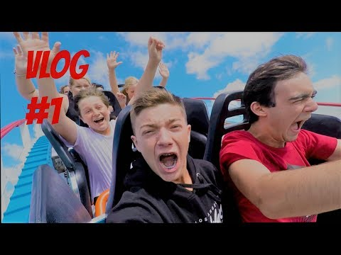RUNNING FROM SECURITY AT SIX FLAGS!!! (CAUGHT ON VIDEO) VLOG #1