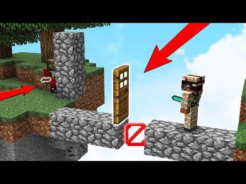 TODOS SE CAEN A TRAVÉS CON LA TRAMPA TROLL😂LA PUERTA TROLL EN MINECRAFT - SKYWARS Minecraft