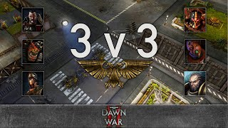 Dawn of War 2 - 3v3 | gSntK + yz + Shark [vs] Veldi + GrizzlyBear + LunaticRed