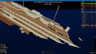 Roblox | SHE SUNK THE Wrong Way?!?! | Roblox RMS Titanic