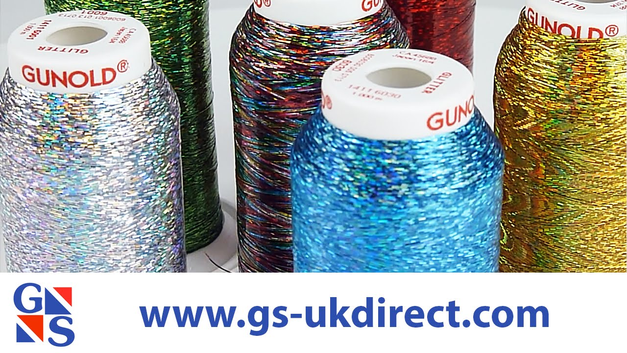 Gunold Glitter Embroidery Thread Youtube