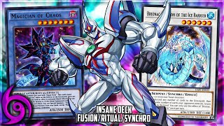INSANE Fusion/Ritual/Synchro Deck! Magician of Chaos & Neos Assault Deck [Yu-Gi-Oh! Duel Links]