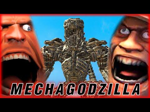 เฮวี้ พบกับ Mechagodzilla จากหนัง Godzilla vs Kong   Garry's Mod Multiplayer Gameplay