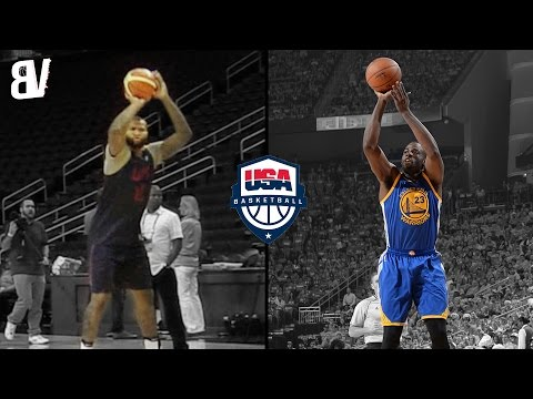 Demarcus Cousins Impersonates Draymond Greens Jumper | Team USA Making Fun Of Each Others Shots