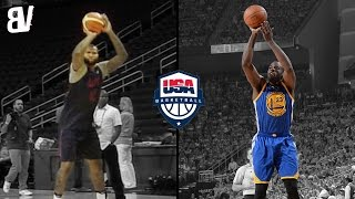 Demarcus Cousins Impersonates Draymond Greens Jumper   Team USA Makes Fun Of Each Others Shots
