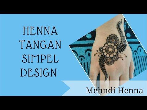 Cara Mudah Henna Tangan Simple Design