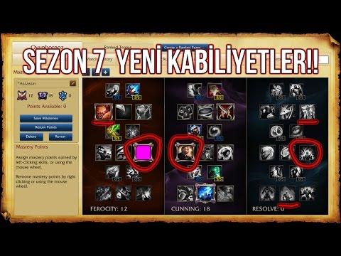 SEZON 7 YENİ KABİLİYETLER!! ÇOK AGRESİF SEÇENEKLER | League Of Legends LoL