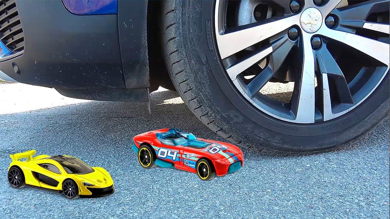МАШИНКИ КРАШ ТЕСТ с HOT WHEELS для Детей - Испытываем Машинки ХотВилс на прочность. Cars for Kids