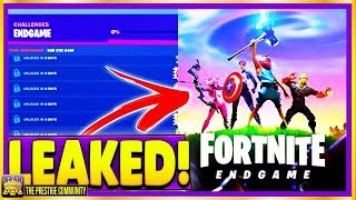 😱 FREE REWARD! **LEAKED** NEW Fortnite Avengers Endgame Challenges! (Season 8 Endgame Leaks)