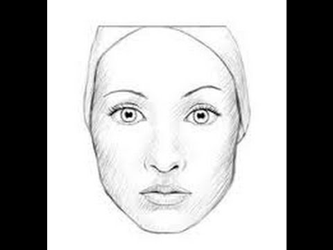How to draw a female face step by step for kids easy way