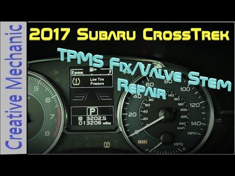 How To Fix A Tire Pressure Light 2017 Subaru Crosstrek Valve Stem