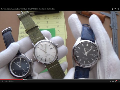 The Triple Midsize Automatic Dress Watch Showdown - Seiko SARB033 Vs Orient Star Vs Oris Artix Date