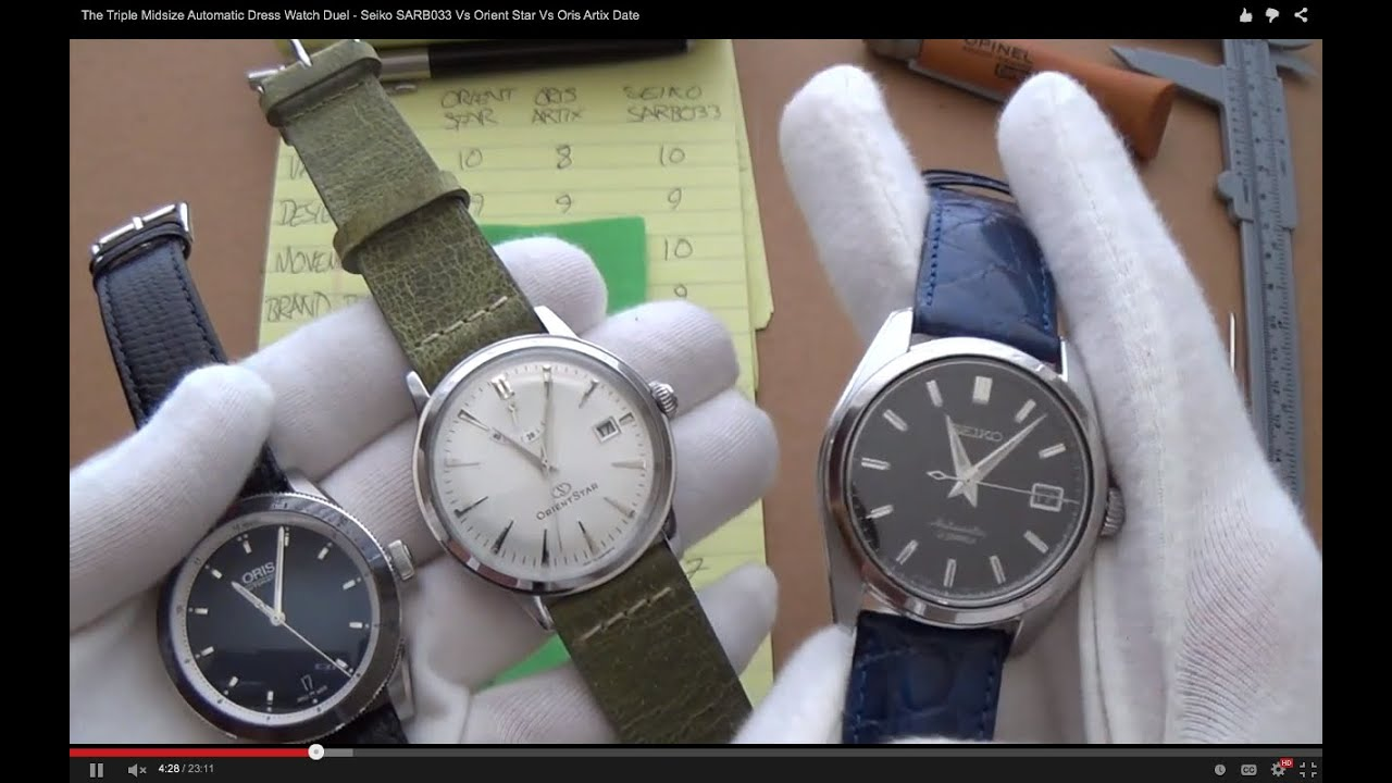 The Triple Midsize Automatic Dress Watch Showdown Seiko