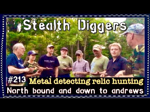 North bound & down to Andrew's #213 Metal detecting NH 1700's house muster field