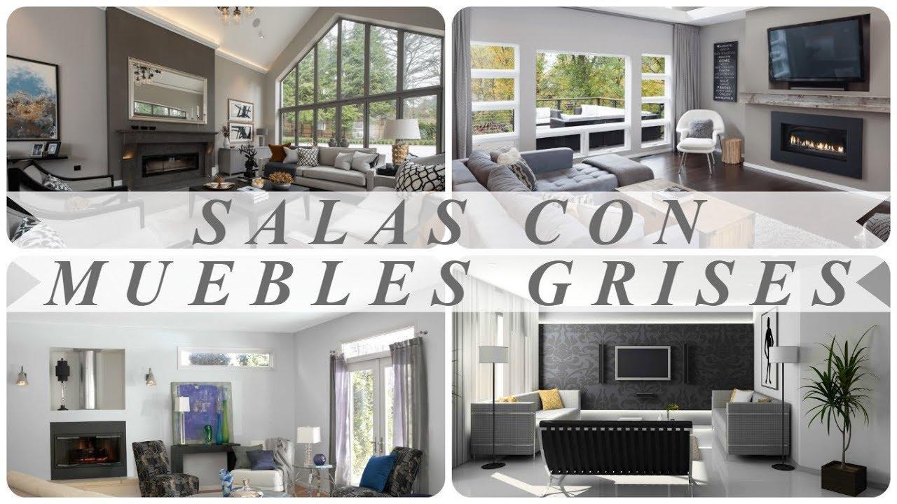 Decoracion de salas con muebles grises youtube for Decoracion de muebles de sala