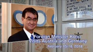 Foreign Minister Kono Visits Austria and Germany