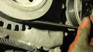 Ford Mondeo IV Замена подшипника шкива кондиционера , ремня , роликов