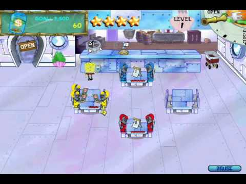 SpongeBob SquarePants Diner Dash (PC) Walkthrough (Part 3)