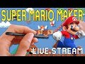 super mario maker sunday live stream with darby viewer levels