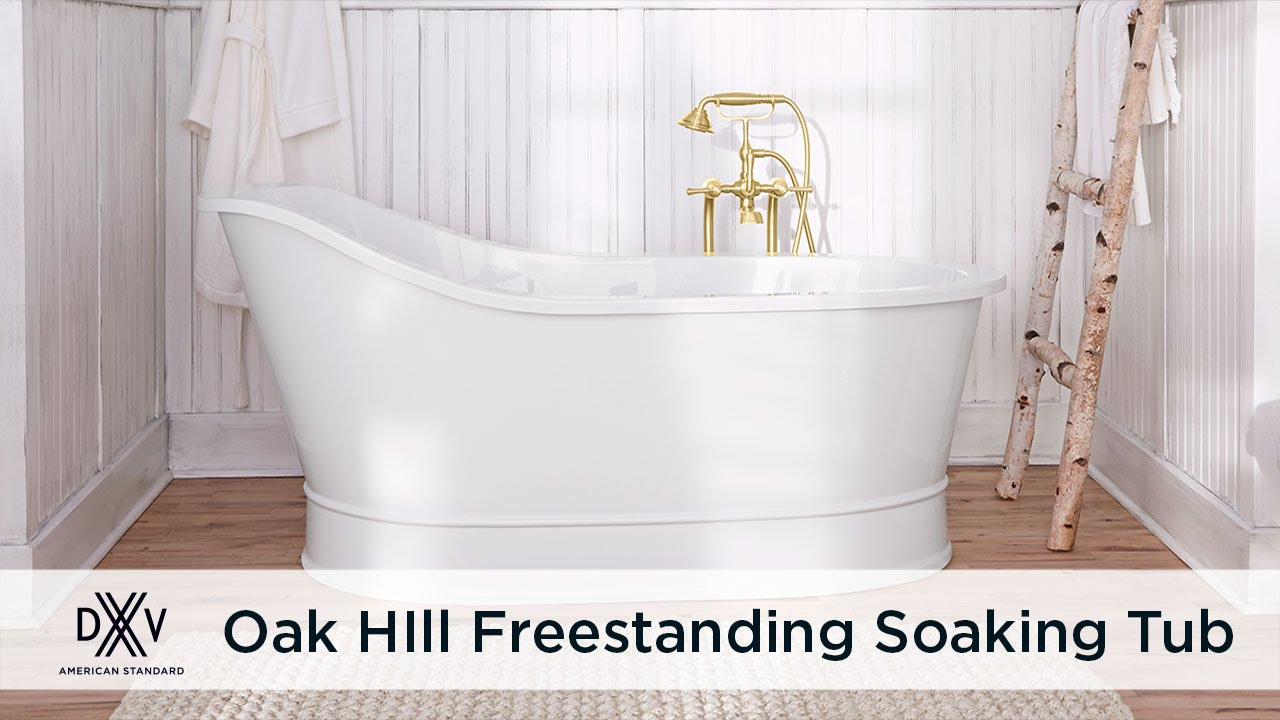 Oak Hill Freetanding Slipper Tub with Pedestal Base By DXV - YouTube