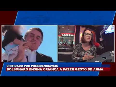 Gesto de criança com Bolsonaro vira polêmica nas redes sociais