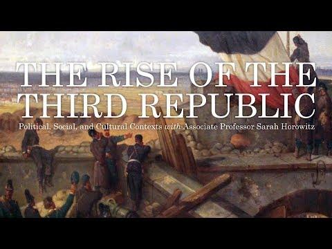 """Alumni College 2017: Sarah Horowitz's """"The Rise of the Third Republic"""""""