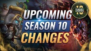 MASSIVE CHANGES: NEW Season 10 REWORKS, BUFFS, & Changes - League of Legends