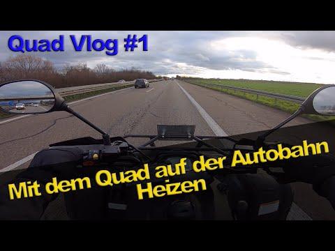 Mit dem Quad auf der Autobahn Heizen / Quad-Vlog / auf deutsch