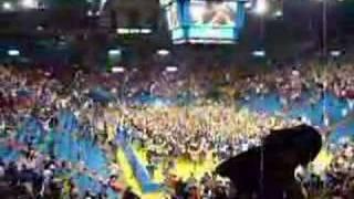 KU 2008 NCAA Champs Rushing the court in Allen Fieldhouse thumbnail