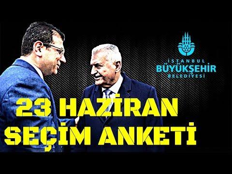 23 HAZİRAN SEÇİM ANKET SONUCU! İSTANBUL'DA NE OLACAK!