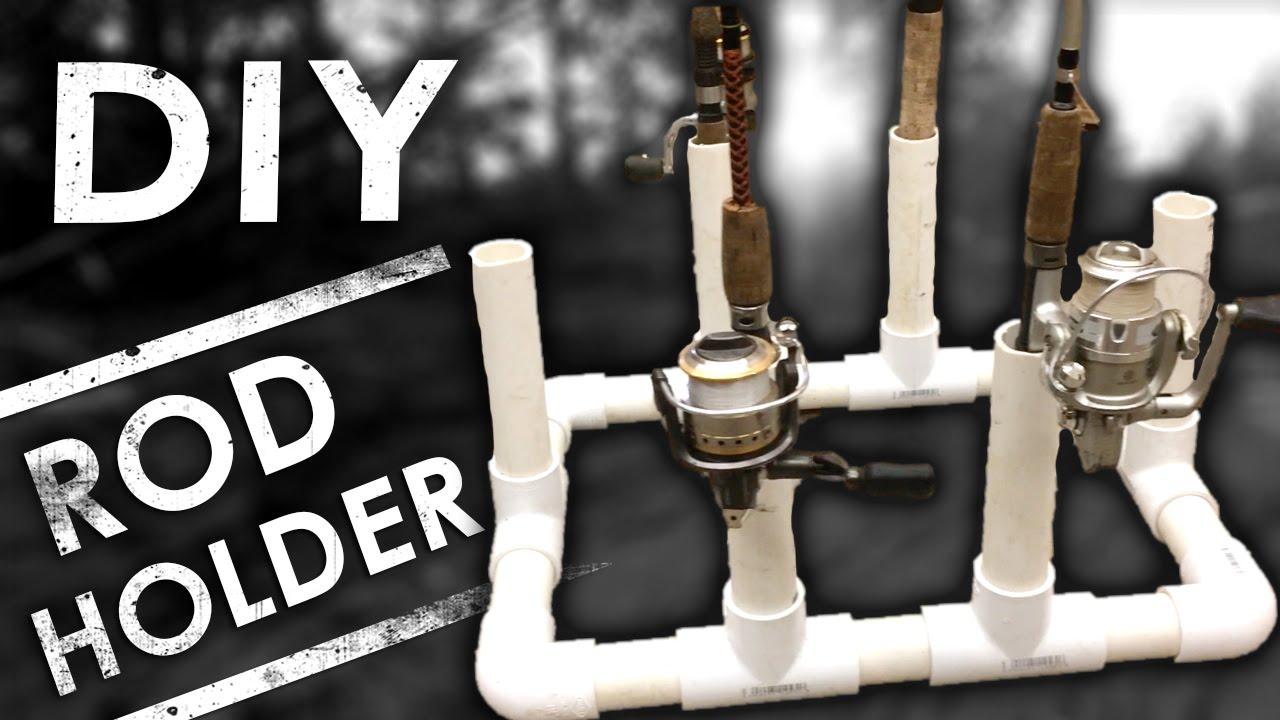 Easy DIY PVC Fishing Rod Holder & Organizer for Storage ...