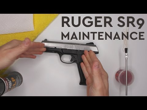 Ruger SR9 Cleaning and Partial Disassembly | Basic Gun Maintenance