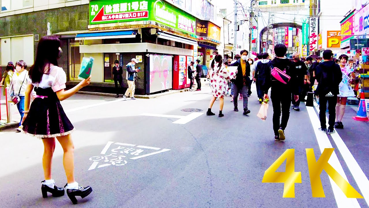 [Akihabara Walk in Tokyo] Moe Moe Kyun Kyun Street Walk ♪ (4K ASMR Nonstop 1 hour 01 minutes)