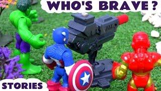 Superheroes Spiderman and Avengers Hulk Captain America Iron Man Who's Brave Toys Stories TT4U
