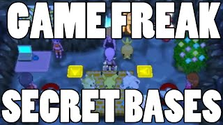 Special Secret Bases! Game Freak and Pokemon Employee Secret Bases ORAS!
