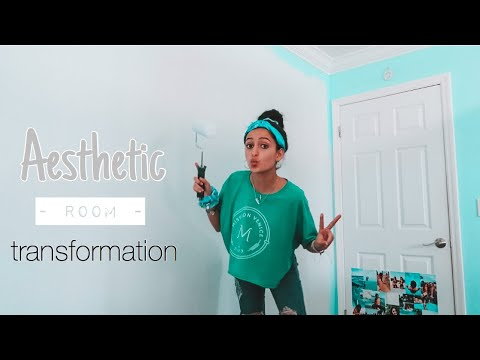AESTHETIC ROOM TRANSFORMATION PT.1 // PAINTING & REORGANIZING