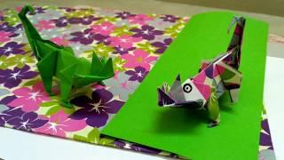 Paper lizard , Origami lizard