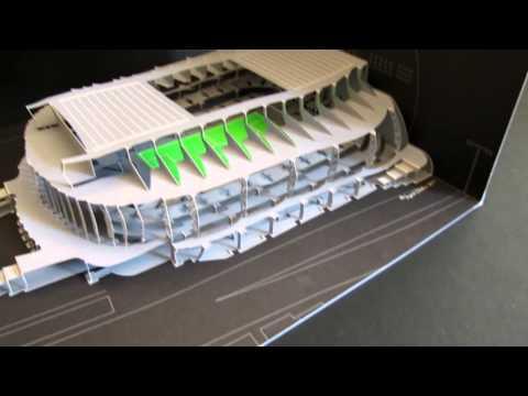 Opening/closing Stockholm Arena art-work.