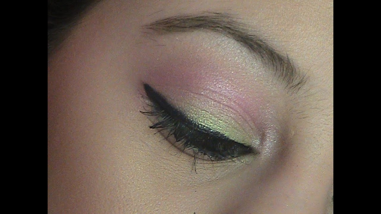 Pink And Green Makeup Tutorial Youtube