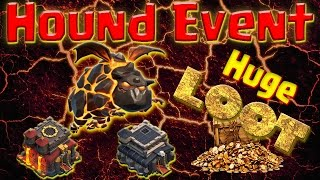 NEW HOUND EVENT! Farm TH10 & TH9 MEGA LOOT! Queen POP | GoLaLoon | Clash of Clans