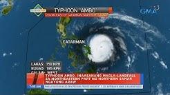 UB: Typhoon Ambo, inaasahang magla-landfall sa northeastern part ng Northern Samar ngayong araw