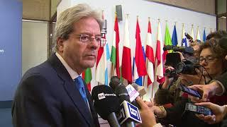Punto stampa del Presidente Gentiloni a Bruxelles