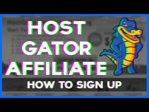 How to Sign Up For The Hostgator Affiliate Program - 2017 NEW!!!