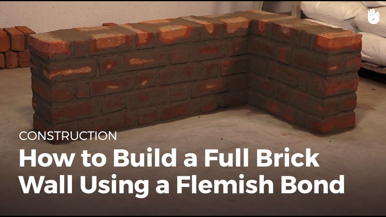 How to build a full brick wall using a flemish bond for Brick house cost to build