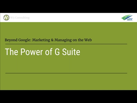 The Power of G Suite: Google's Software Suite for Small Business | Web and Beyond