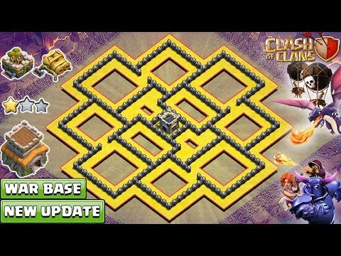 New TH8 War Base 2018  BEST Th8 Base Layout  Anti Dragon And Valk   Clash Of Clans 2018