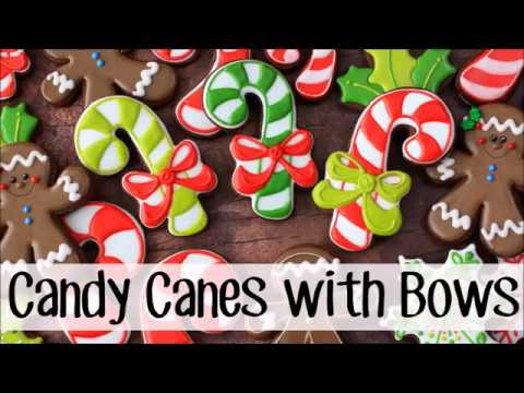How To Make Decorated Candy Cane Sugar Cookies With A Bow Youtube