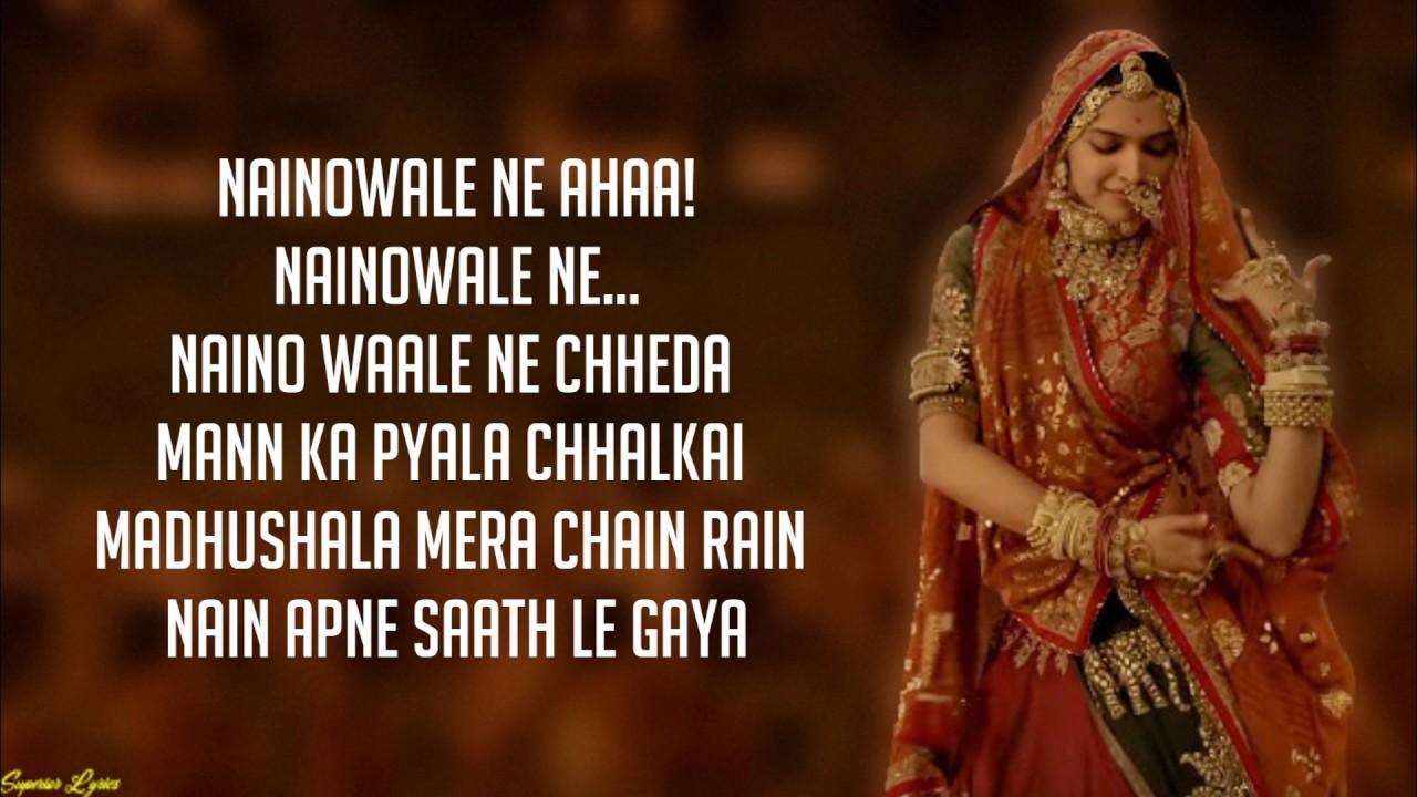 Download Naino wale Ne - Padmaavat (Lyrics)